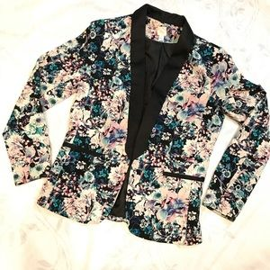 LC Lauren Conrad Floral Tuxedo Blazer 8